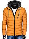 Мужская  молодёжная стёганая куртка с капюшоном Хаки, фото 4