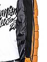 Мужская  молодёжная стёганая куртка с капюшоном Оранжевый, фото 9