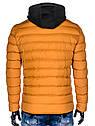 Мужская  молодёжная стёганая куртка с капюшоном Оранжевый, фото 10
