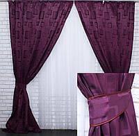 Плотные жаккардовые шторы от производителя, фото 1