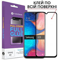 Скло захисне MakeFuture Samsung A20Full Cover Full Glue (MGF-SA205/MGF-SA200)