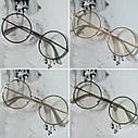 Круглые имиджевые очки тишейды  с анти блик №3 Серебро, фото 6