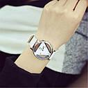 Женские наручные часы треугольные 1, Черный, фото 3