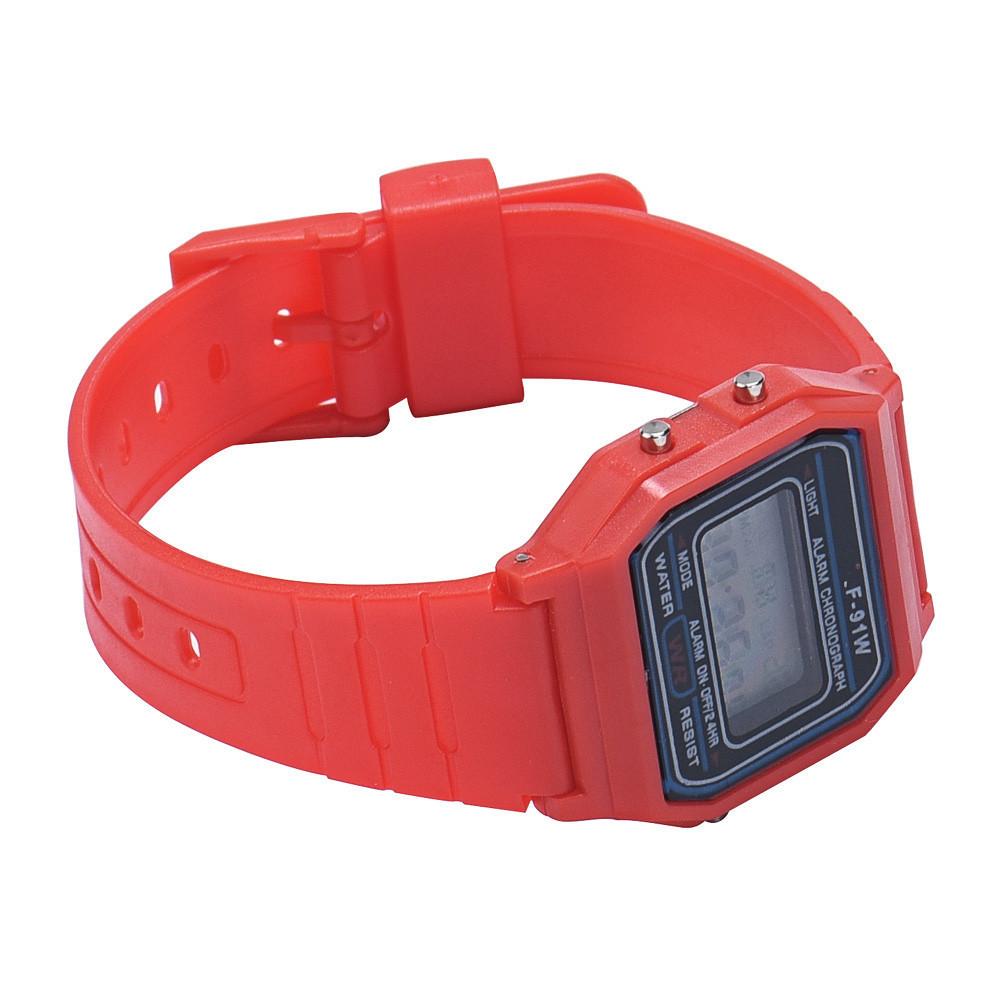 Силиконовые наручные часы, Красный 1, Унисекс