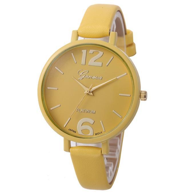 Женские наручные часы Geneva, Желтый 1