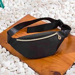 Женская сумка бананка, Черная