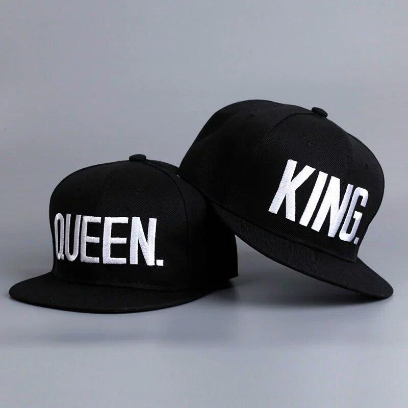 Комплект кепка снепбек King & Queen (Король и Королева) с прямым козырьком для двоих  Комплект