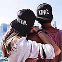 Комплект кепка снепбек King & Queen (Король и Королева) с прямым козырьком для двоих  Комплект, фото 5