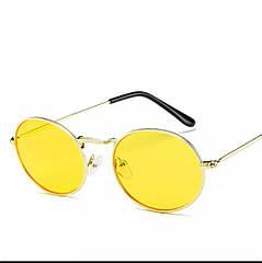 Солнцезащитные очки овальные с цветной линзой уценка
