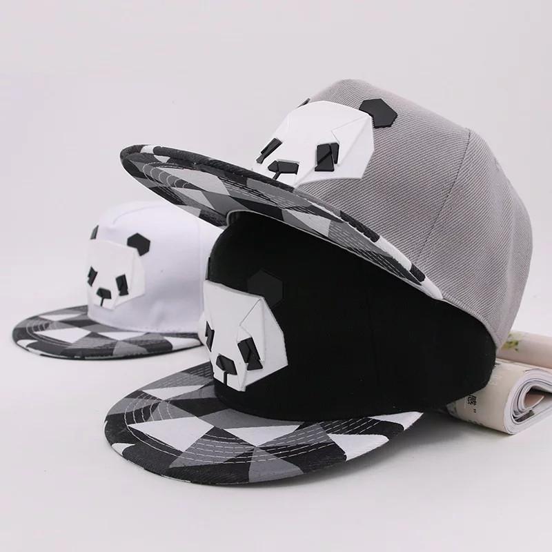 Кепка снепбек Панда с прямым козырьком, Унисекс