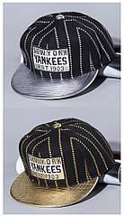 Детская кепка снепбек Yankees с прямым козырьком, Унисекс
