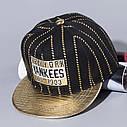 Детская кепка снепбек Yankees с прямым козырьком, Унисекс, фото 3