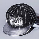 Детская кепка снепбек Yankees с прямым козырьком Золотая, Унисекс, фото 3