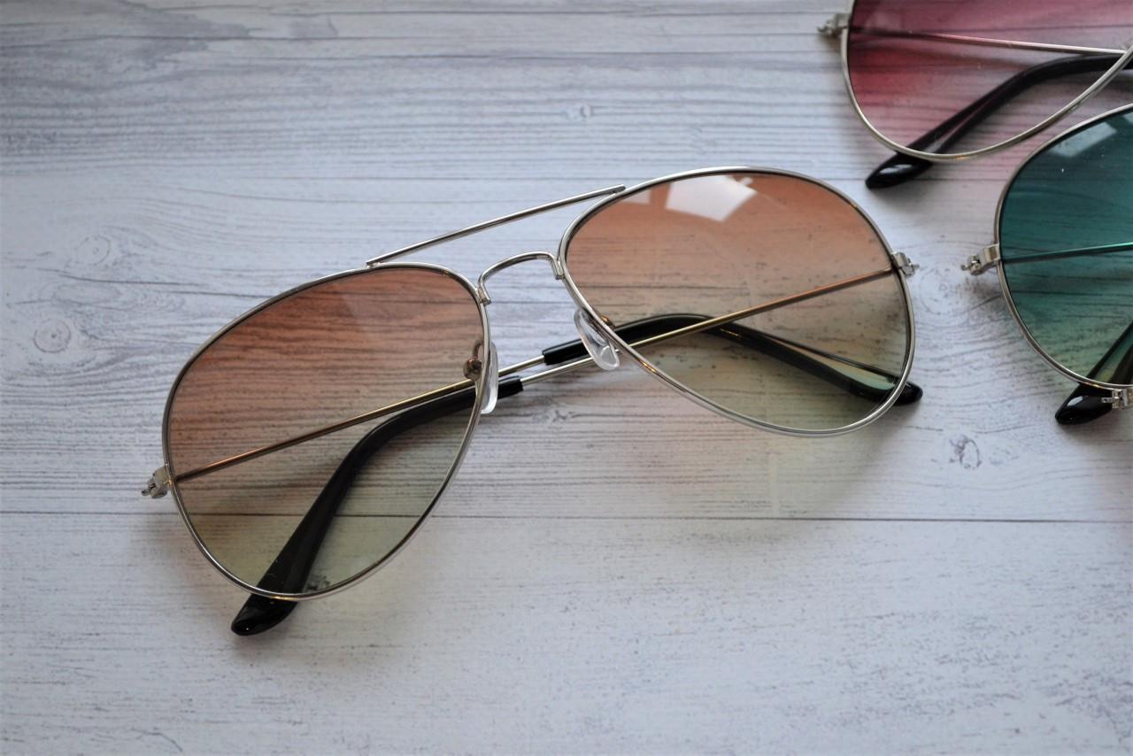 Солнцезащитные очки авиаторы капли Коричнево-зеленый