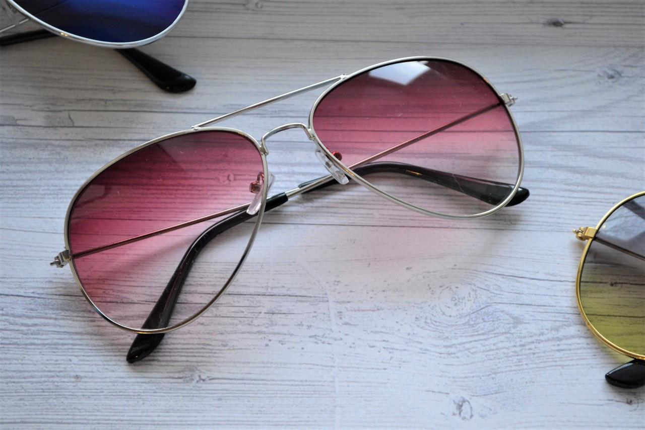 Солнцезащитные очки авиаторы капли Вишневый