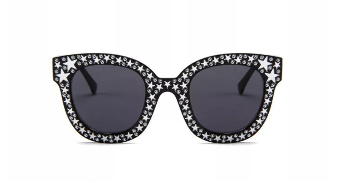 Солнцезащитные очки в стиле Гуччи с  имитацией камней