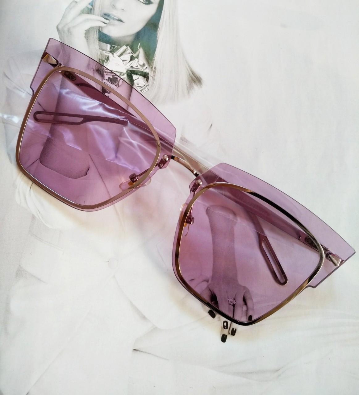 Солнцезащитные очки кошачий глаз с градиентом  Сиреневый