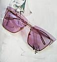 Солнцезащитные очки кошачий глаз с градиентом    Голубой, фото 5