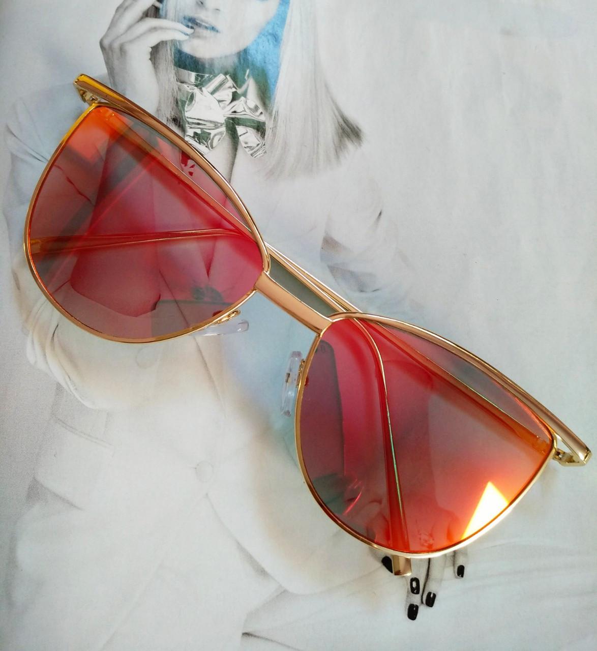 Солнцезащитные женские очки кошачий глаз Красный