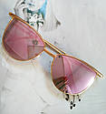 Солнцезащитные женские очки кошачий глаз Розовый, фото 10