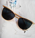 Солнцезащитные женские очки кошачий глаз Белый хром, фото 7