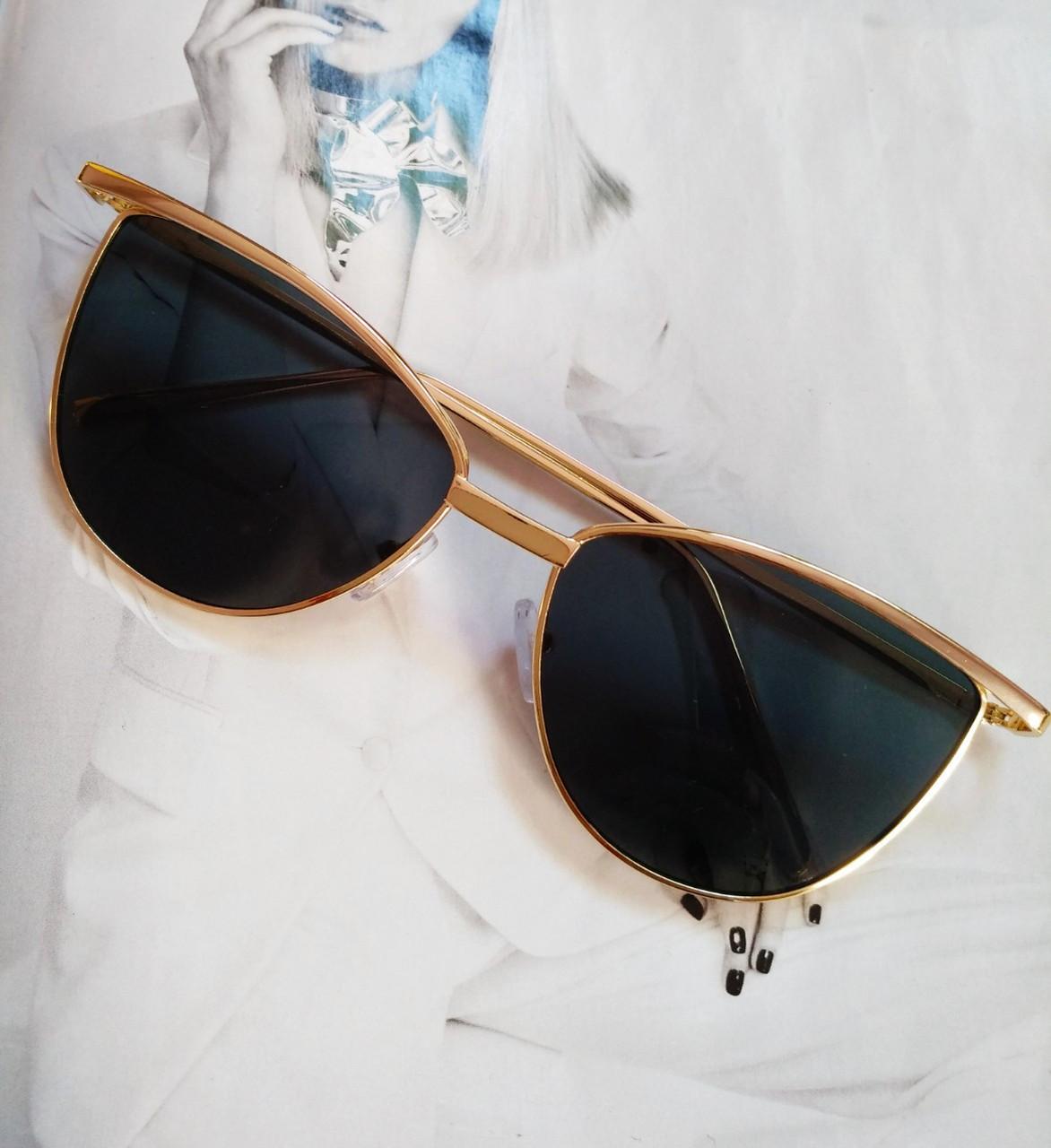 Солнцезащитные женские очки кошачий глаз Черный