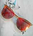 Солнцезащитные женские очки кошачий глаз Пудровый, фото 2