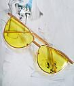 Солнцезащитные женские очки кошачий глаз Пудровый, фото 3