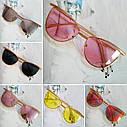 Солнцезащитные женские очки кошачий глаз Пудровый, фото 9