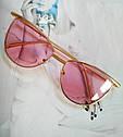 Солнцезащитные женские очки кошачий глаз Пудровый, фото 10