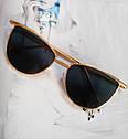 Солнцезащитные женские очки кошачий глаз Белый хром, фото 2