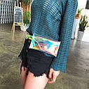 Прозрачная женская сумка конверт на пояс 1, фото 5