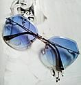 Солнцезащитные очки авиаторы капли с градиентом прозрачный, фото 4