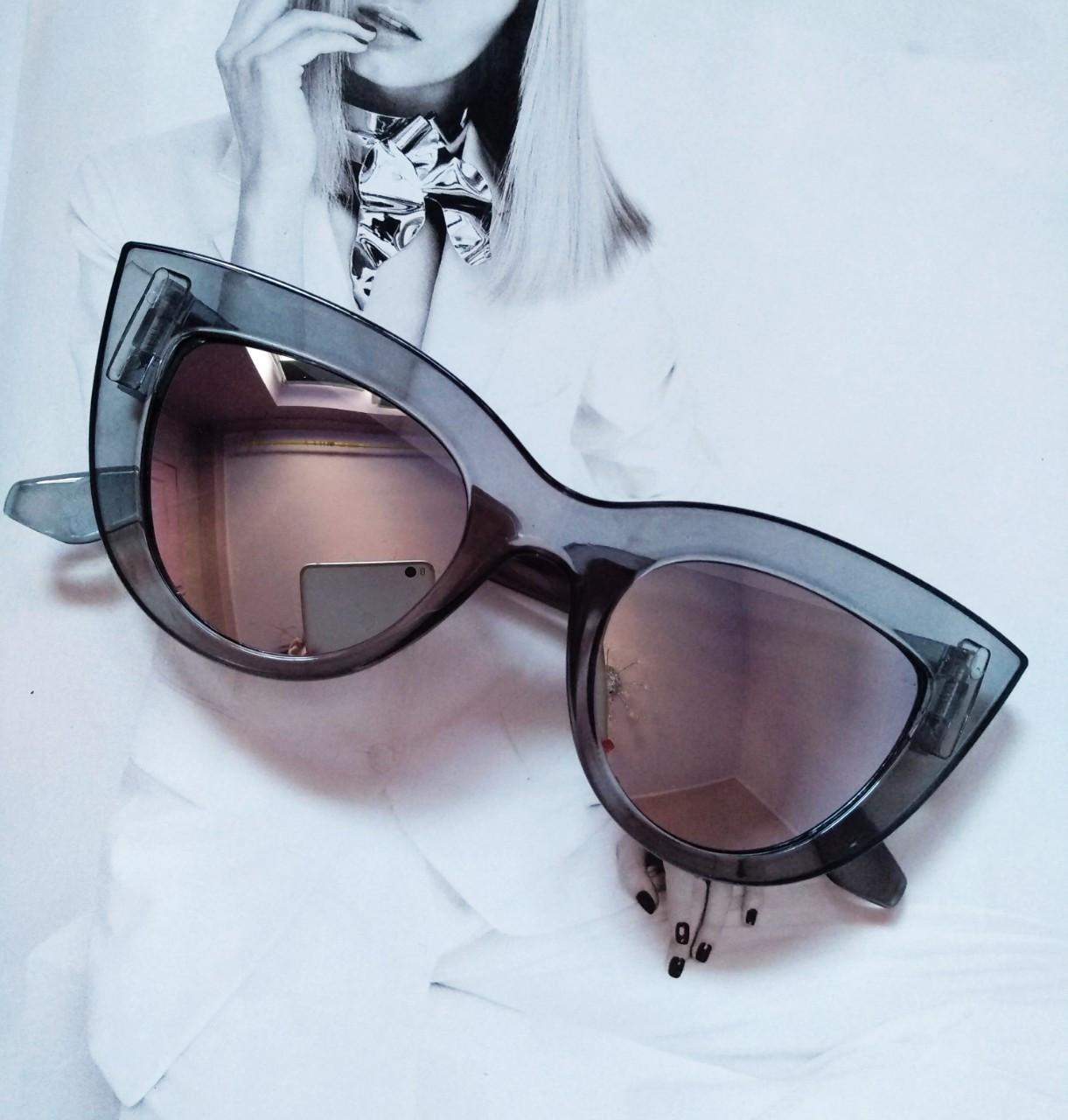 Солнцезащитные очки в стиле кошачий глаз Серый