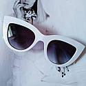 Солнцезащитные очки в стиле кошачий глаз Серый, фото 4