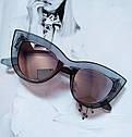 Солнцезащитные очки в стиле кошачий глаз Белый, фото 2