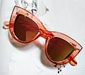 Солнцезащитные очки в стиле кошачий глаз Белый, фото 5