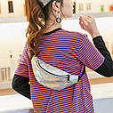Блестящая женская сумка бананка Голограмма 5, 1, фото 10