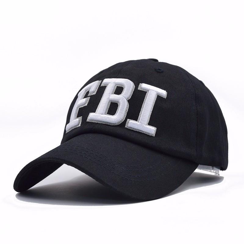 Кепка бейсболка FBI (ФБР) Чорна, Унісекс