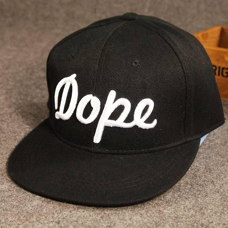 Кепка снепбек Dope с прямым козырьком Черная, Унисекс