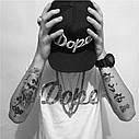 Кепка снепбек Dope с прямым козырьком Черная, Унисекс, фото 5