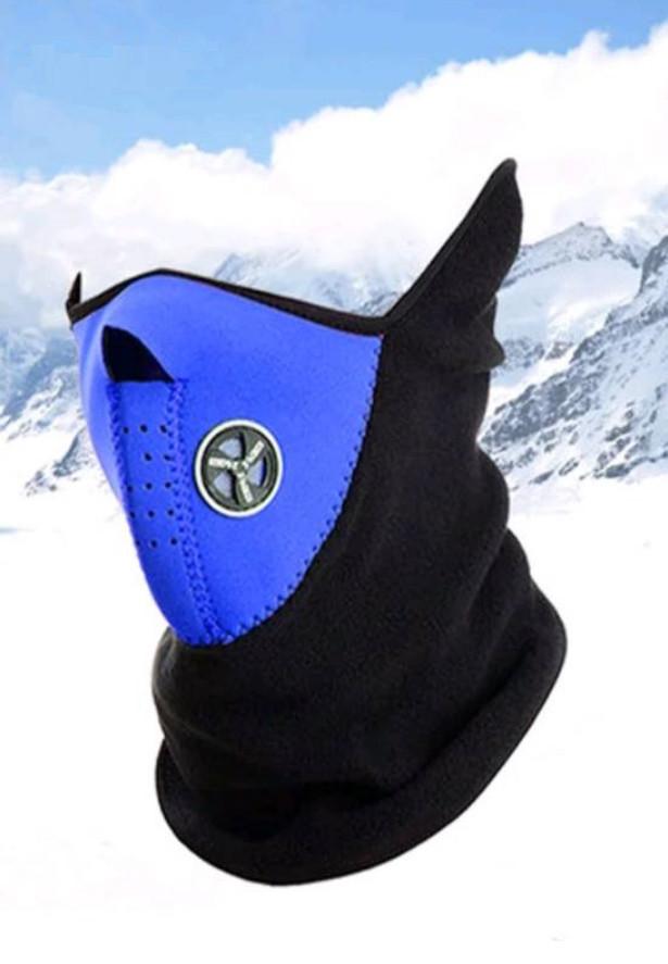 Бафф маска флис лыжная Синяя, Унисекс