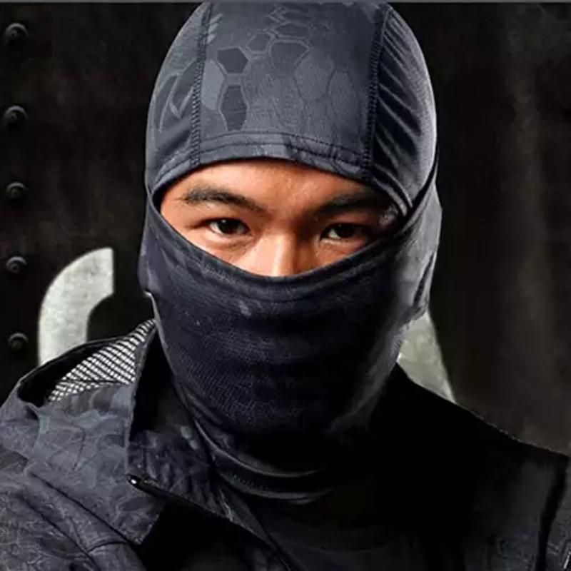 Балаклава маска (Ниндзя 2) Черная, Унисекс