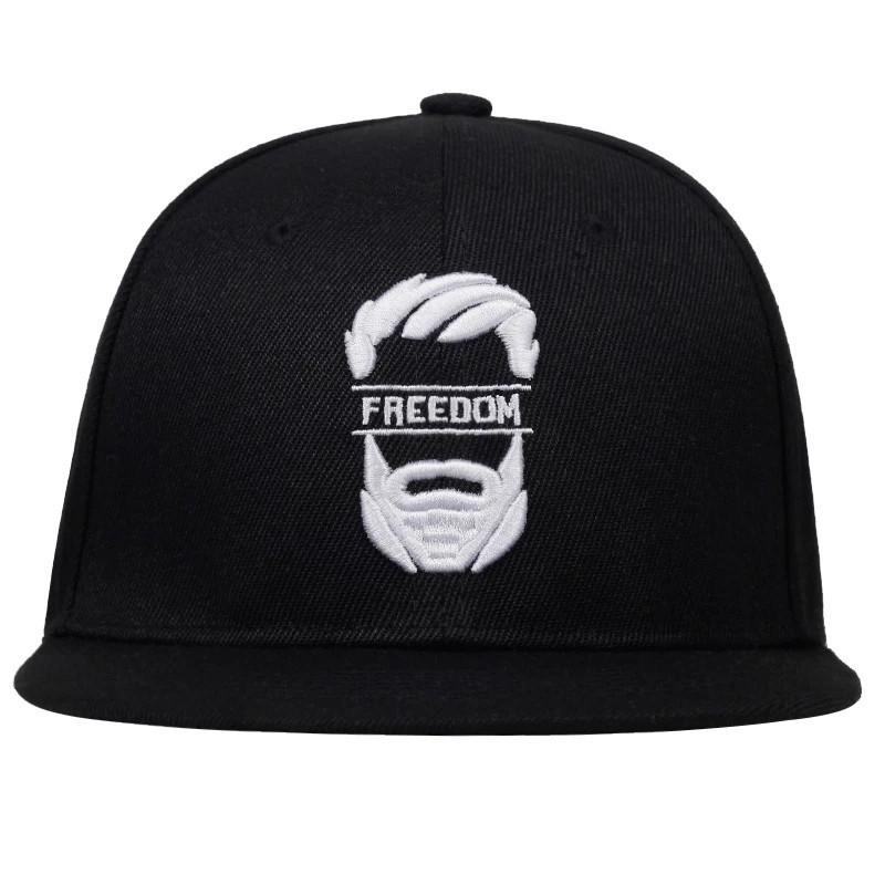 Кепка снепбек Freedom с прямым козырьком, Черная Унисекс