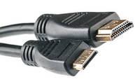 Видeo кaбeль PowerPlant mini HDMI - HDMI, 2m, позолочeнныe коннeкторы, 1.3V