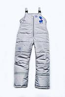 Зимние штаны для мальчика (полукомбинезон) Размер 122 (7 лет)