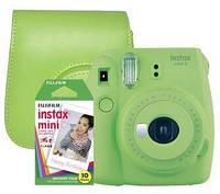 Фотокамера моментальной печати FUJIFILM Instax Mini 9 + 10 вкладышей + чехол green