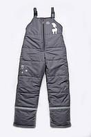 Зимние штаны для мальчика (полукомбинезон) Размеры 92-122 (2-7 лет)