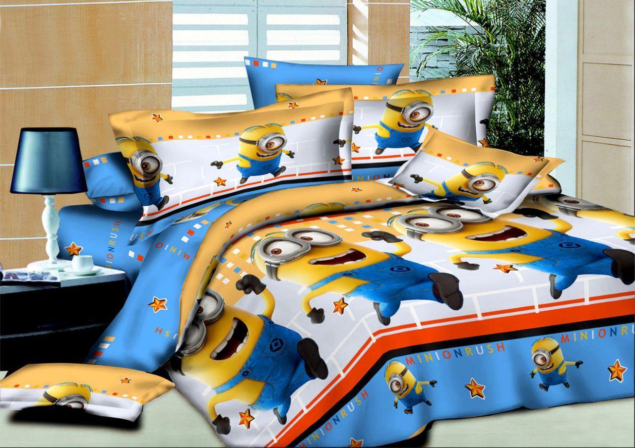 Комплект постельного белья подростковый Миньоны