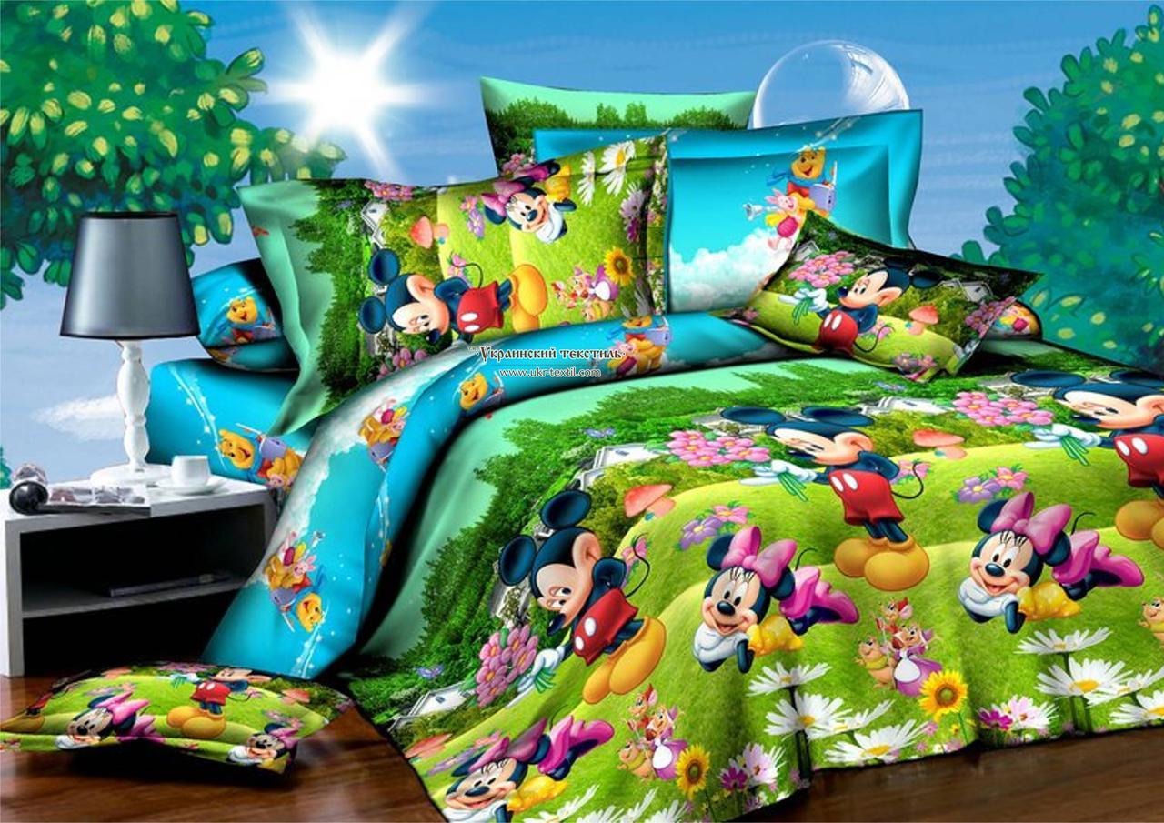 Комплект постельного белья подростковый  Микки Маус